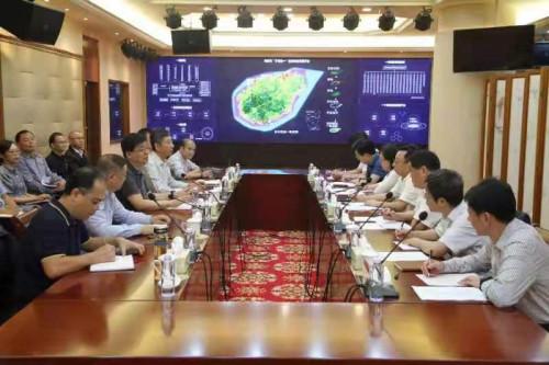 黑龙江测绘地理信息局局长徐开明带队到海南测绘地理信息局调研